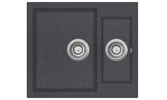 Мойка AquaSanita Tesa SQT 150 222 AW graphite (58х50) (графит)