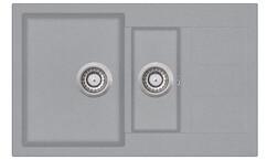 Мойка AquaSanita Tesa SQT 151 221 AW light grey (80х50) (светло серый)