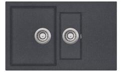 Мойка AquaSanita Tesa SQT 151 222 AW graphite (80х50) (графит)