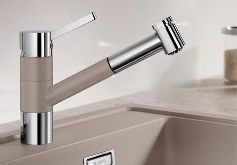 Кухонный смеситель Blanco Tivo-S (серый беж)