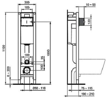 """Комплект Ideal Standard 3 в 1 инсталляция + унитаз + крышка """"микролифт"""" (W220101)"""